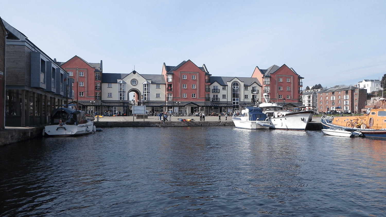 Buildings on Exeter Quay